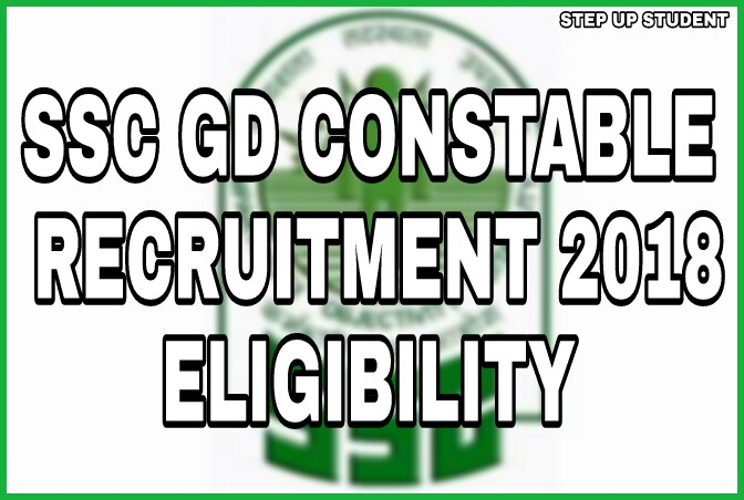 SSC GD Constable Recruitment 2018